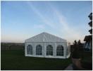 Zelt mit 6m Breite, weiße Seitenplanen